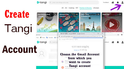 how to create google tangi account